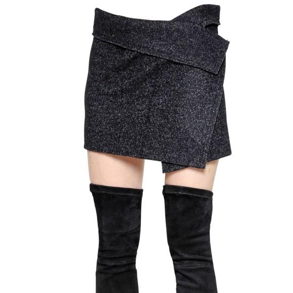 Isabel Marant Dresses & Skirts - Isabel Marant Etoile Gray Wool Blend Wrap Skirt